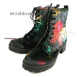 Steve Madden Velvet Combat Boots Size 7
